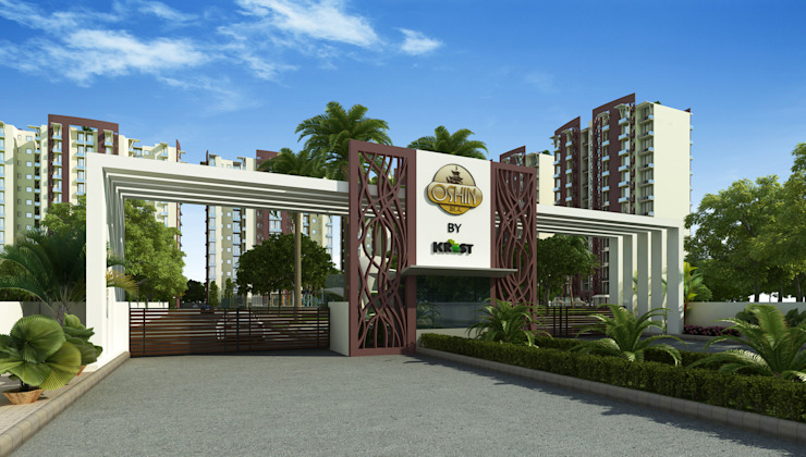 apartments entry gate Modern hotels by Form & Function Modern