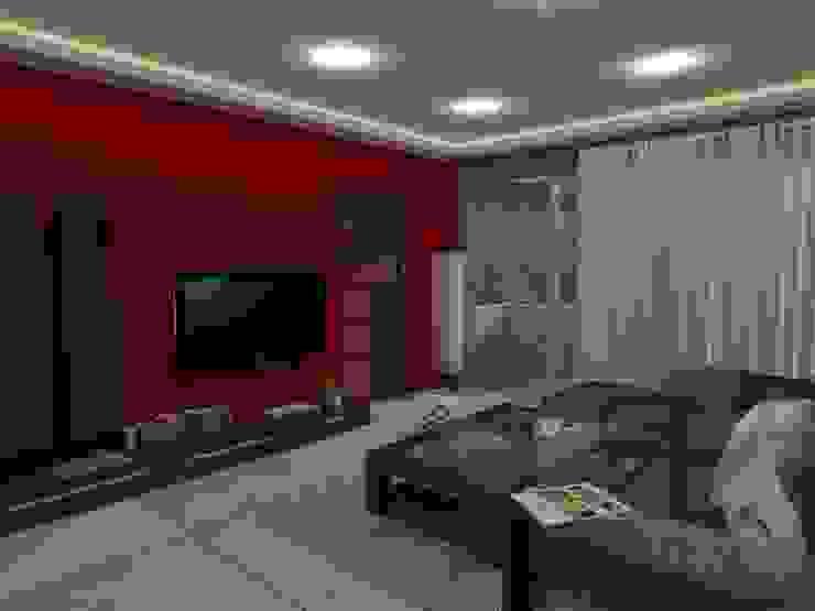 Remodelación Sala Recibidor Apto Res. San Isidro Salas de estilo moderno de RB Arquitectura & Diseño Moderno Cerámico