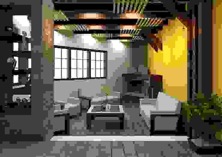 Sala Livings de estilo rústico de Arq. Rodrigo Culebro Sánchez Rústico