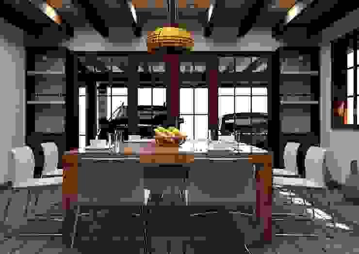 Rustic style dining room by Arq. Rodrigo Culebro Sánchez Rustic