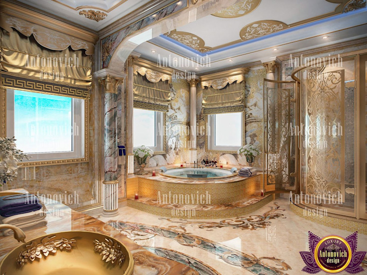 Interior Design Dubai UAE by Katrina Antonovich Classic style bathroom by Luxury Antonovich Design Classic
