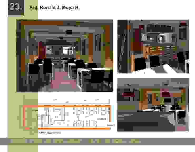 Diseño para un cafe de Arquigroup Moderno Derivados de madera Transparente
