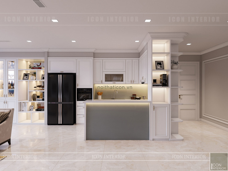 Vinhomes Golden River đẳng cấp với phong cách thiết kế Tân Cổ Điển Nhà bếp phong cách kinh điển bởi ICON INTERIOR Kinh điển