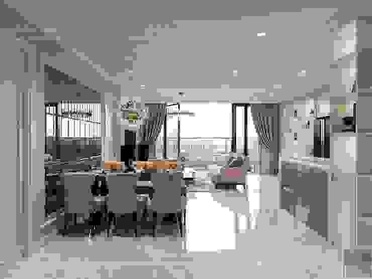 Vinhomes Golden River đẳng cấp với phong cách thiết kế Tân Cổ Điển Phòng ăn phong cách kinh điển bởi ICON INTERIOR Kinh điển