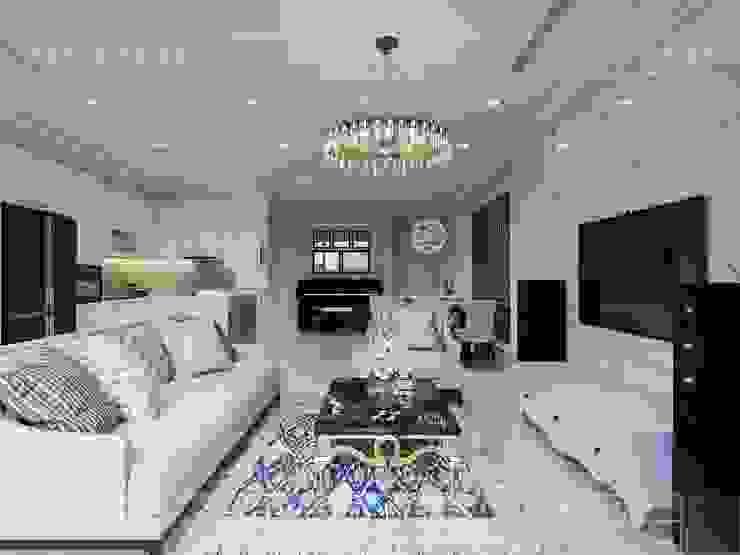 Vinhomes Golden River đẳng cấp với phong cách thiết kế Tân Cổ Điển Phòng khách phong cách kinh điển bởi ICON INTERIOR Kinh điển