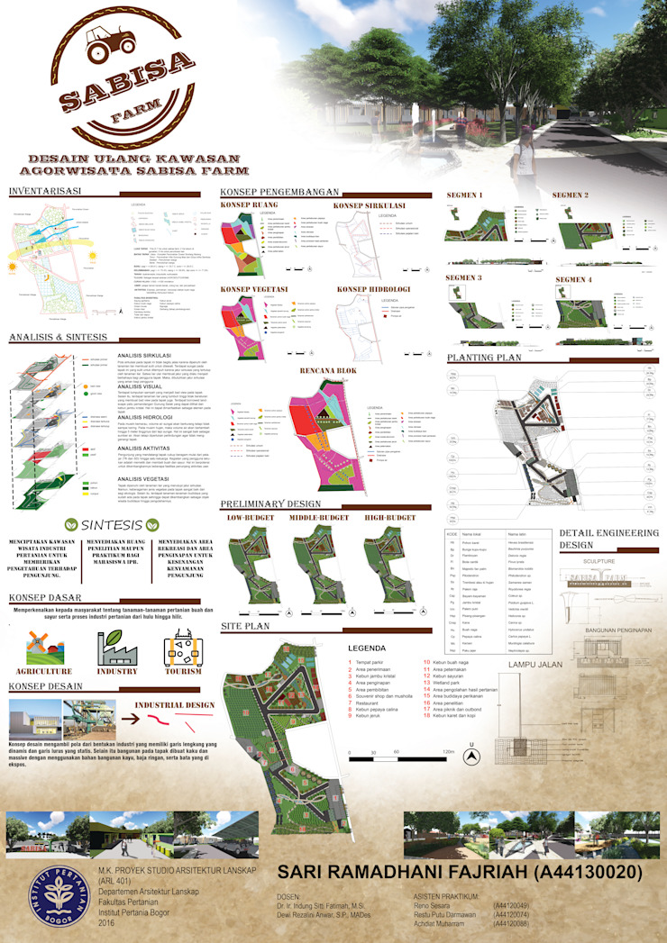 Landscape Design of Sabisa Farm Agrotourism, Bogor by 1mm studio | Landscape Design Industrial