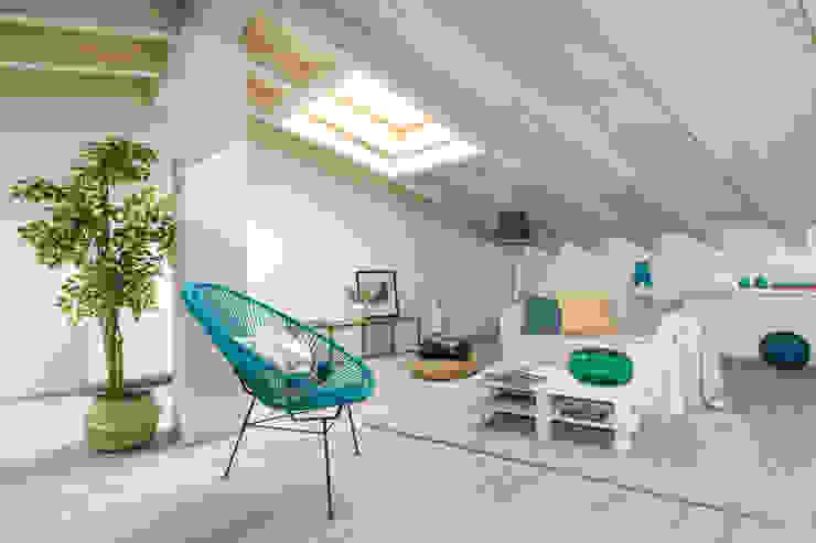 Modern living room by Boite Maison Modern