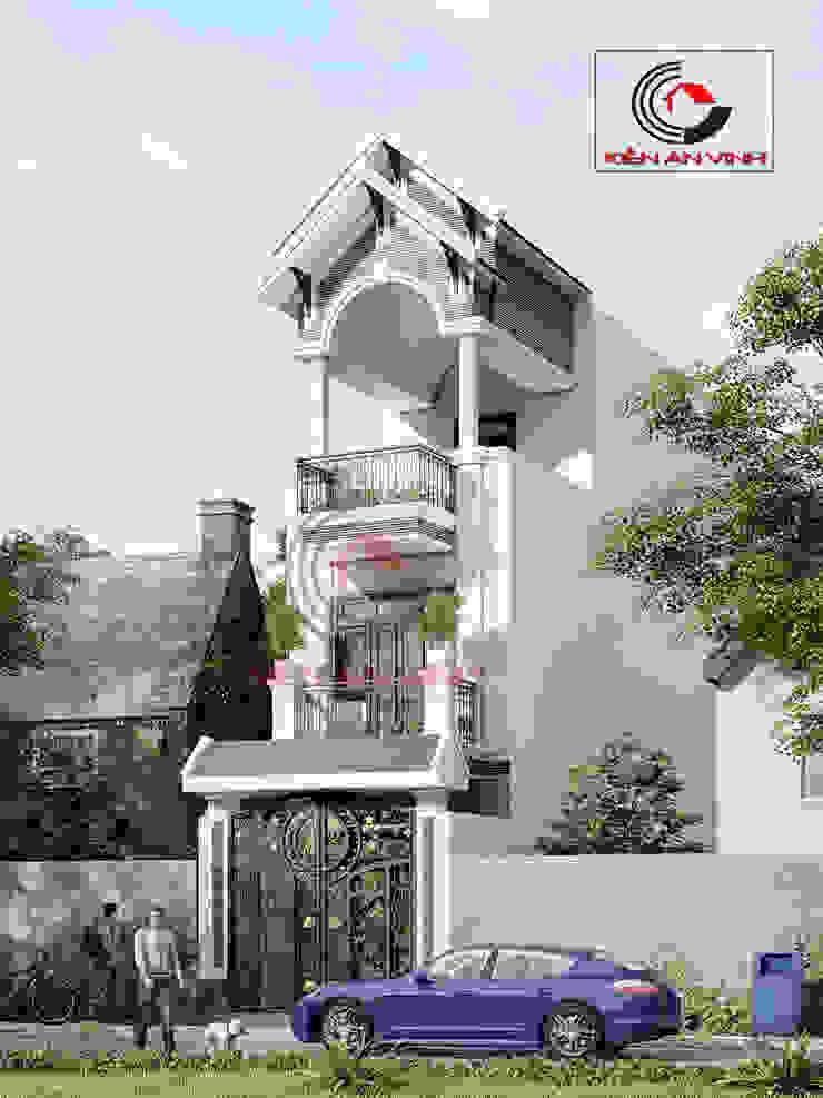 thiết kế nhà 3 tầng đẹp 40m2 Nhà phong cách châu Á bởi Cong ty thiet ke nha biet thu dep Kien An Vinh Châu Á
