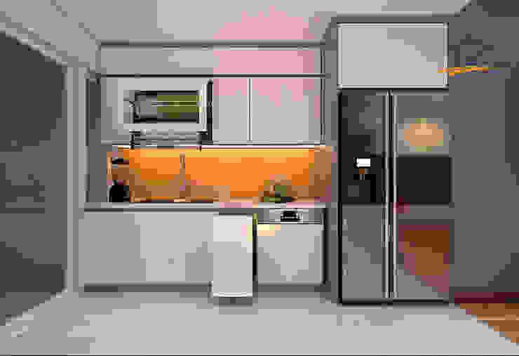 Kitchen design in 6TH Element apartment, Hanoi, Vietnam by THIẾT KẾ HOMEXINH Modern