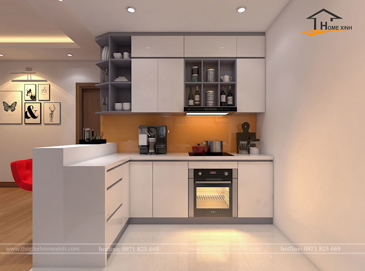 Kitchen units by THIẾT KẾ HOMEXINH, Modern