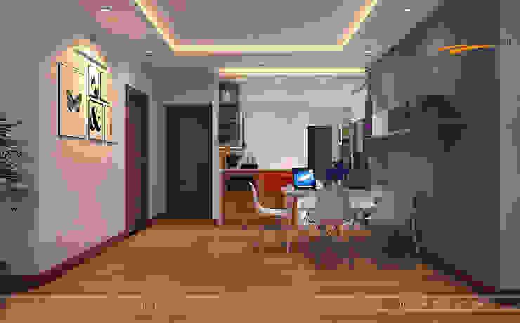 Kitchen design in 6TH Element apartment, Hanoi, Vietnam Modern kitchen by THIẾT KẾ HOMEXINH Modern