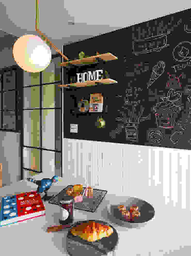 黑板漆牆面襯托出原味司康的美味 根據 一葉藍朵設計家飾所 A Lentil Design 北歐風