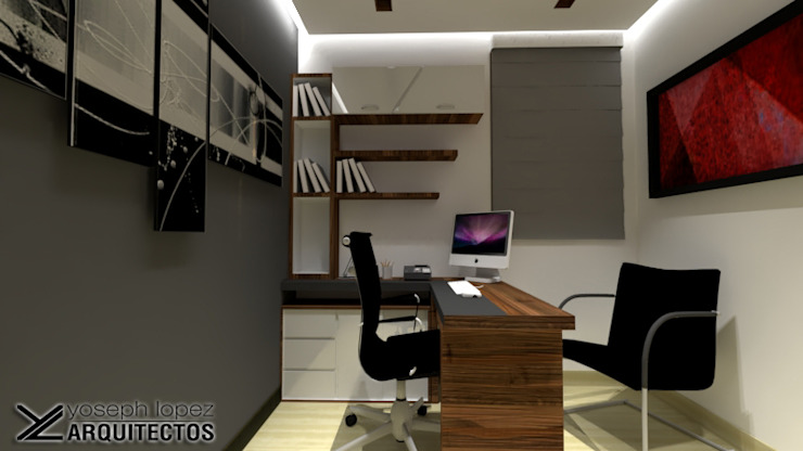 Modern Study Room and Home Office by arqyosephlopez Modern