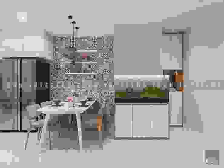 Vẻ đẹp thanh lịch đến từ sự đơn giản – Phong cách thiết kế hiện đại Phòng ăn phong cách hiện đại bởi ICON INTERIOR Hiện đại