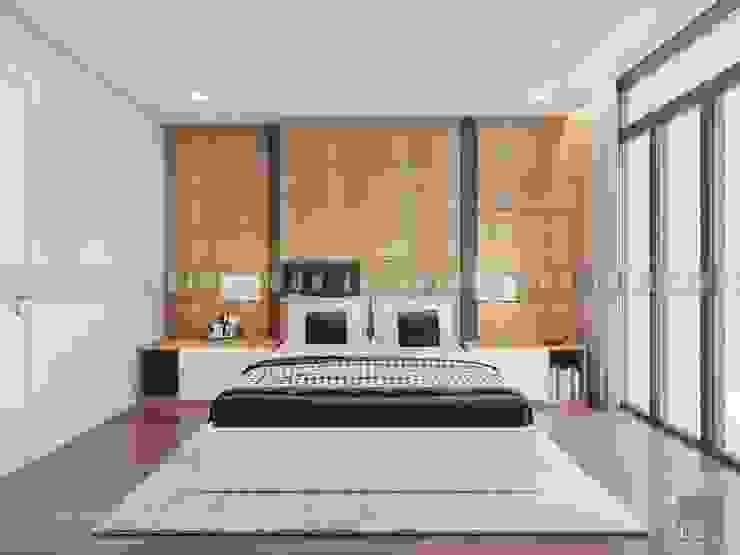 Vẻ đẹp thanh lịch đến từ sự đơn giản – Phong cách thiết kế hiện đại Phòng ngủ phong cách hiện đại bởi ICON INTERIOR Hiện đại
