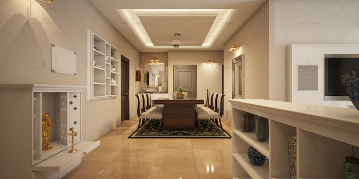 Home Furnishing in Cochin Asian style dining room by Monnaie Interiors Pvt Ltd Asian
