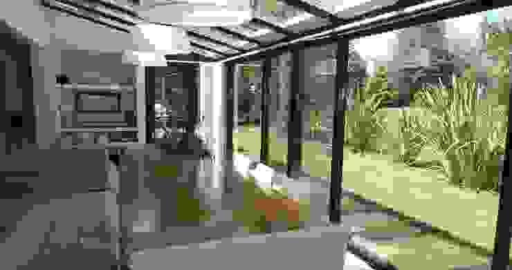 Jardín de invierno Anexos de estilo moderno de Estudio Dillon Terzaghi Arquitectura - Pilar Moderno Aluminio/Cinc