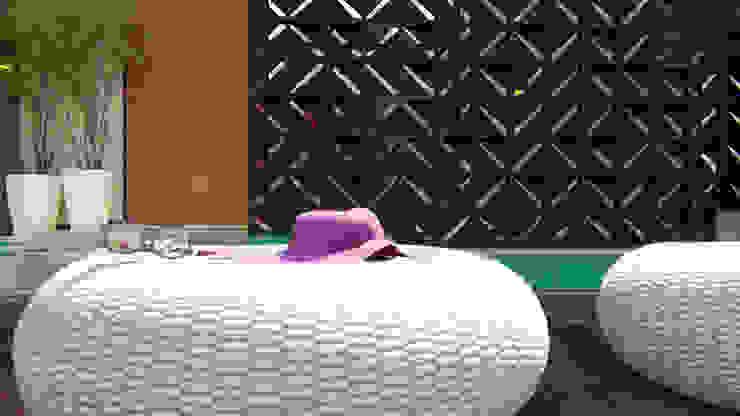 Piscina e Cobogós IEZ Design Piscinas de jardim Tijolo Turquesa