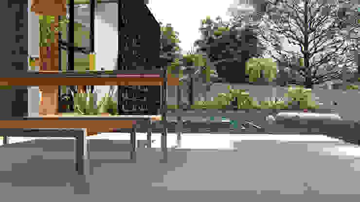 Área de Lazer IEZ Design Piscinas de jardim Concreto Turquesa