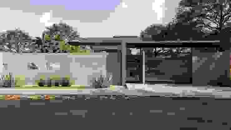 Muro Frontal IEZ Design Casas familiares Concreto Cinza