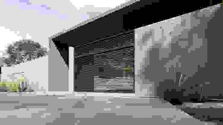 Muro Frontal IEZ Design Casas modernas Concreto Cinza