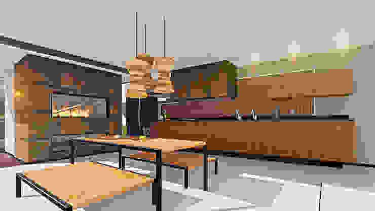 Varanda Gourmet IEZ Design Cozinhas modernas Madeira Castanho