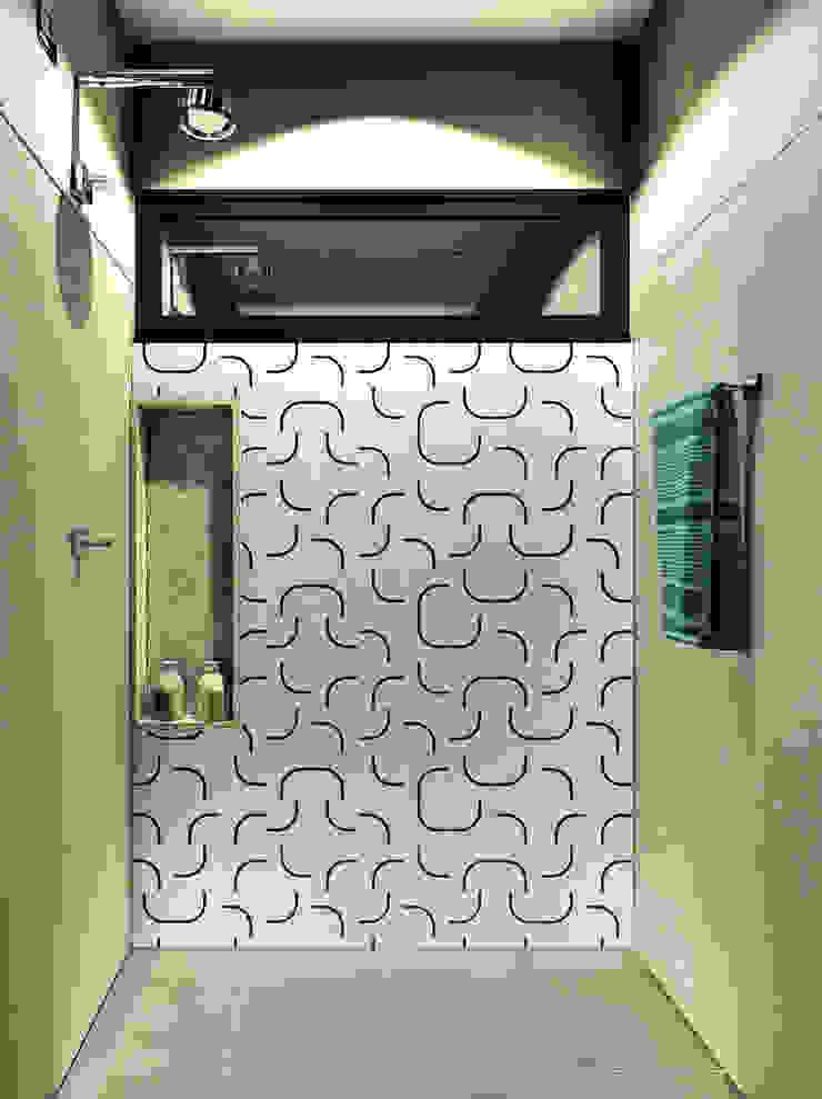 Banheiro | Box IEZ Design Banheiros modernos Cerâmica Cinza