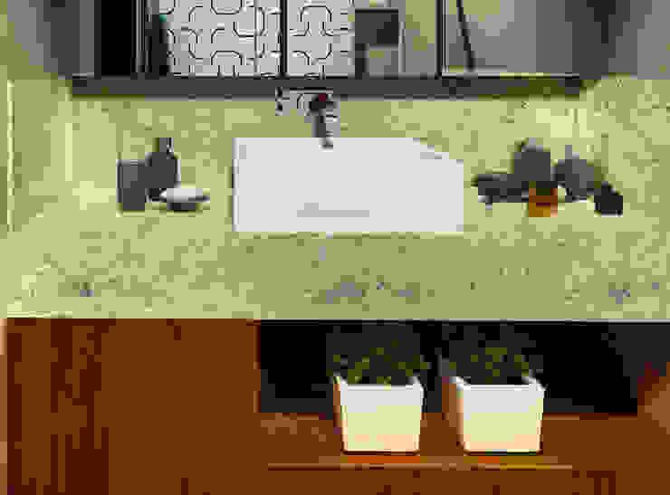 Bancada do Banheiro IEZ Design Banheiros modernos Granito Multi colorido