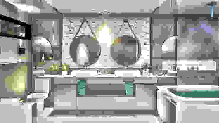 Banheiro Master IEZ Design Banheiros modernos Mármore Branco