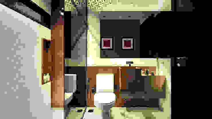 Lavabo IEZ Design Banheiros modernos Mármore Castanho