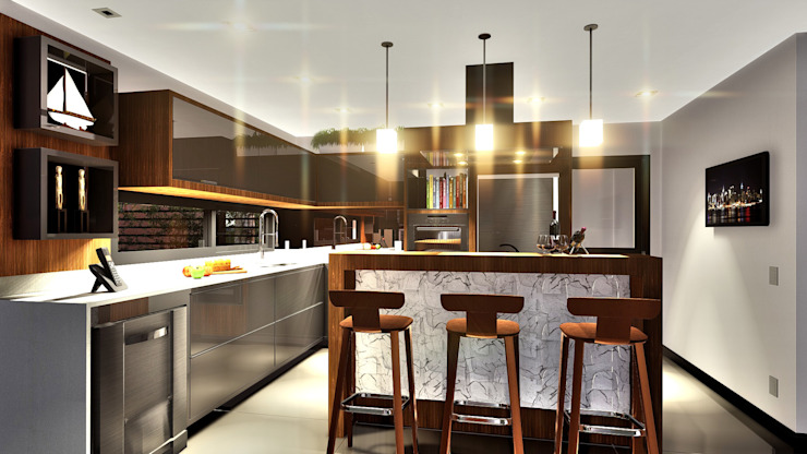 IEZ Design Unit dapur Marmer Multicolored