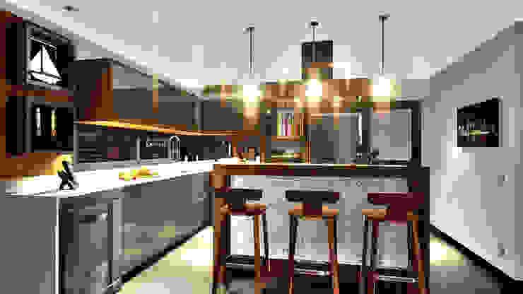 Cozinha IEZ Design Armários e bancadas de cozinha Mármore Multi colorido