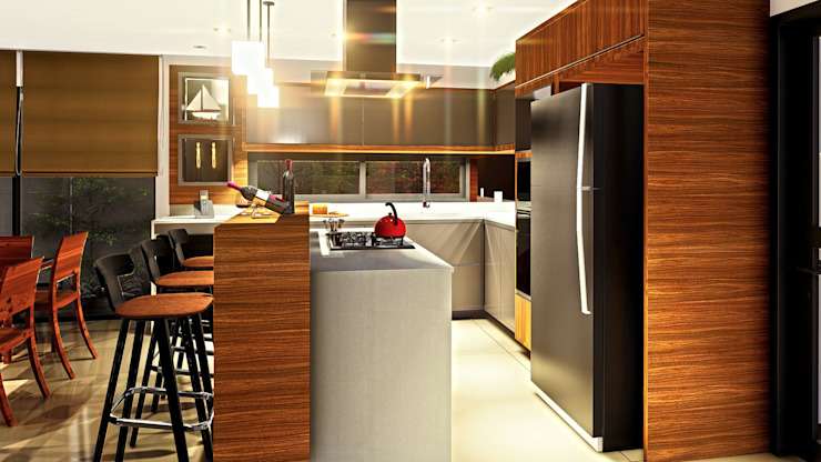 IEZ Design Unit dapur MDF Multicolored