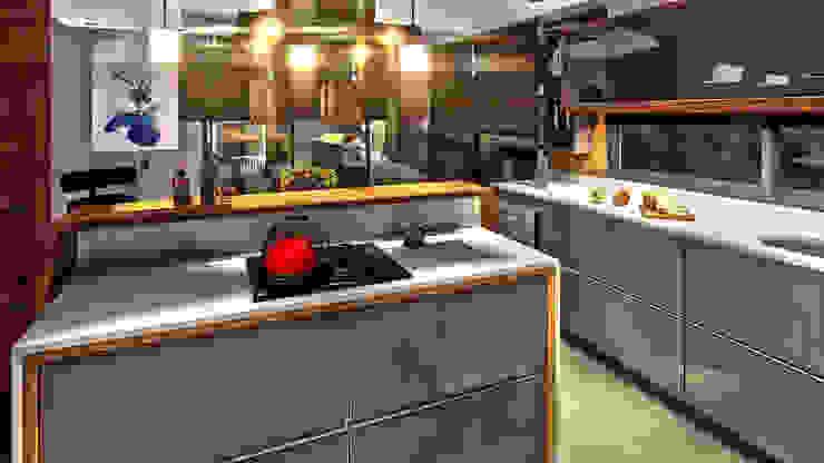 Cozinha IEZ Design Armários e bancadas de cozinha MDF Multi colorido