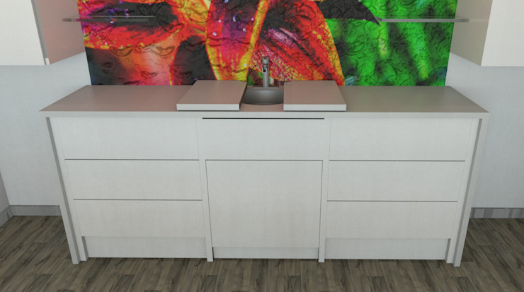 custom counter and storage unit by Nuclei Lifestyle Design