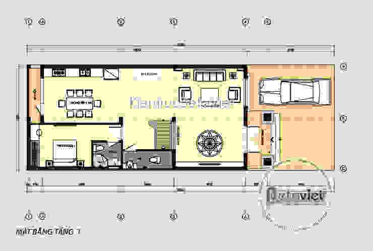 Mặt bằng tầng 1 biệt thự Tân cổ điển 3 Tầng đẹp lung linh (CĐT: Ông Thế Anh - Tuyên Quang) KT18008 bởi Công Ty CP Kiến Trúc và Xây Dựng Betaviet
