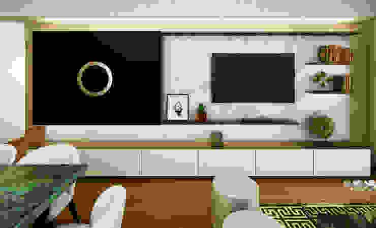 Proyecto LF: Salas de entretenimiento de estilo  por Luis Escobar Interiorismo, Moderno