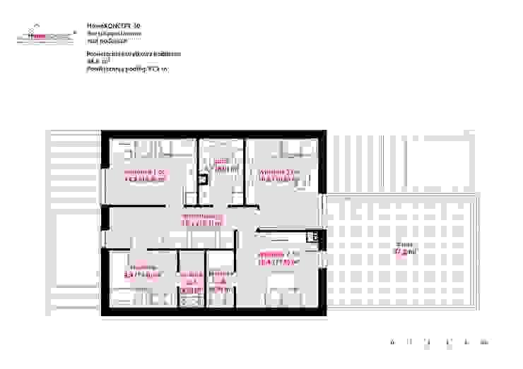 Projekt domu HomeKONCEPT 50: styl , w kategorii  zaprojektowany przez HomeKONCEPT | Projekty Domów Nowoczesnych