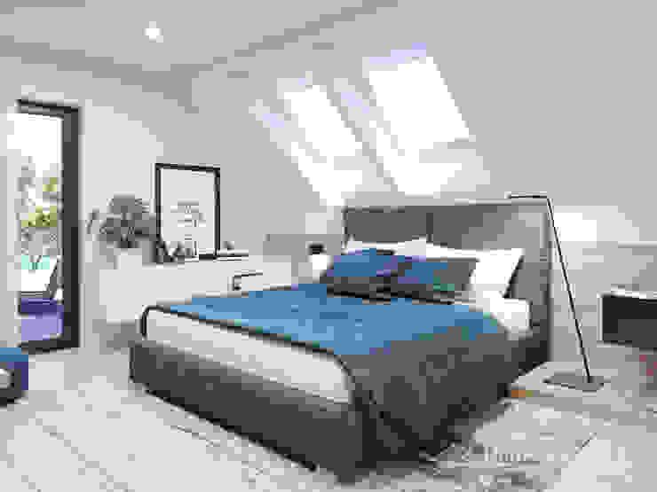 Dormitorios modernos: Ideas, imágenes y decoración de HomeKONCEPT | Projekty Domów Nowoczesnych Moderno