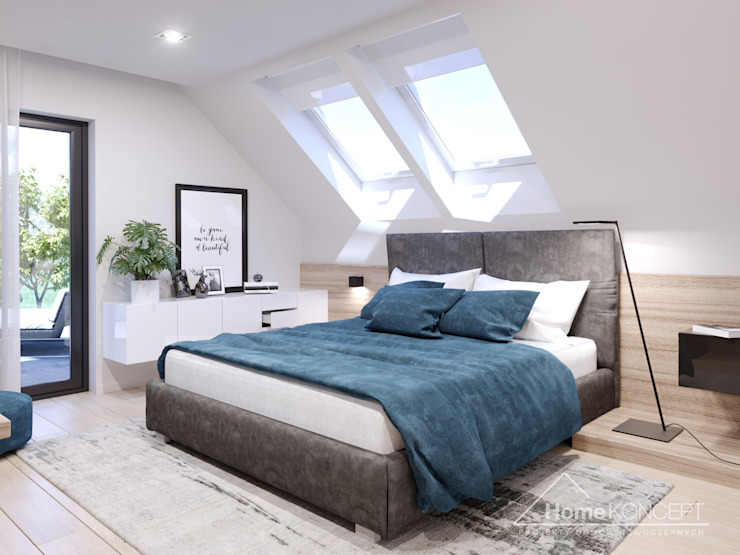 Спальня в стиле модерн от HomeKONCEPT | Projekty Domów Nowoczesnych Модерн