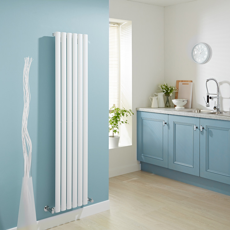 Milano Aruba White Vertical Designer Radiator Кухня в стиле модерн от homify Модерн