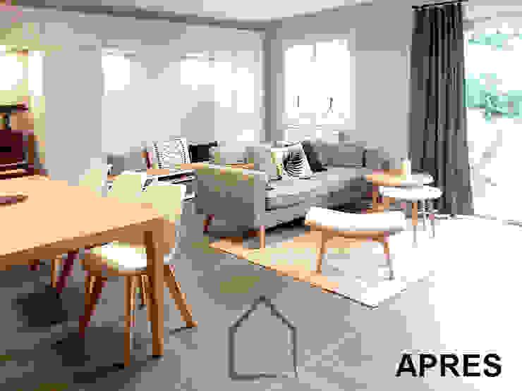 salon familial Salon scandinave par Benedicte Bergot . Simple Design Scandinave