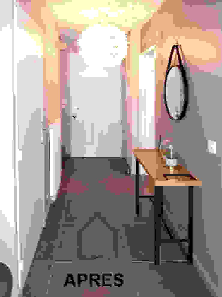entrée Couloir, entrée, escaliers scandinaves par Benedicte Bergot . Simple Design Scandinave