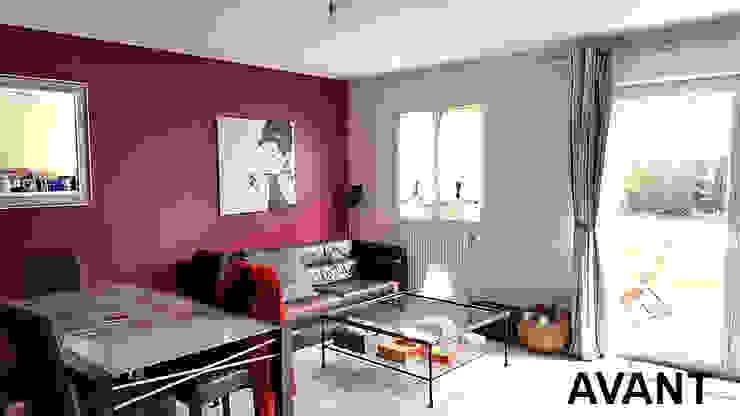 salon avant Salon scandinave par Benedicte Bergot . Simple Design Scandinave