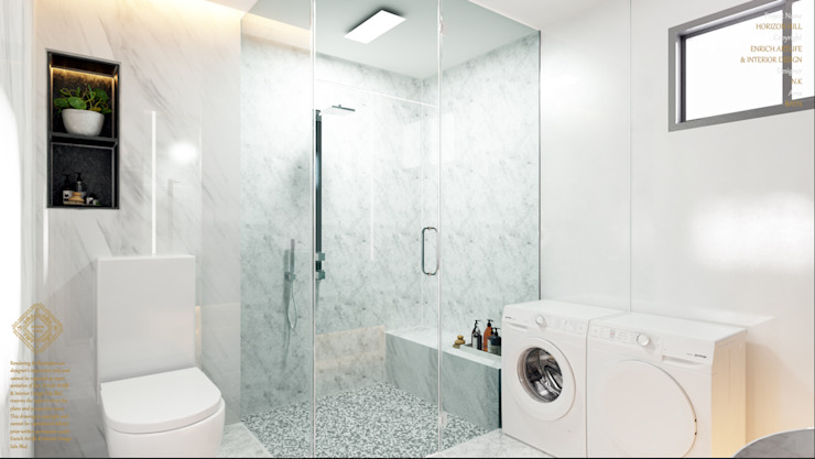 Semi Detached House—horizon hill, Johor Bahru,Malaysia Enrich Artlife & Interior Design Sdn Bhd Modern style bathrooms