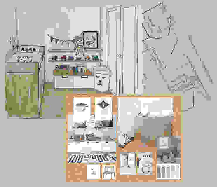 Totaal overzicht van het designplan voor het interieurontwerp van Studio Room by Room