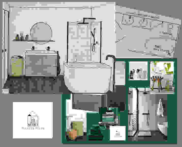 Totaal overzicht designplan badkamer van Studio Room by Room