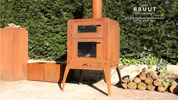 PRODUCTLAB Garden Fire pits & barbecues Iron/Steel Brown