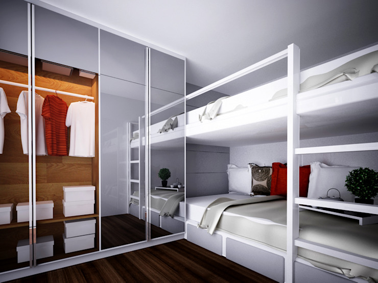 Apartment Gading Greenhill Kamar Tidur Modern Oleh Elora Desain Modern