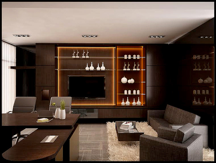 Office projects Bangunan Kantor Modern Oleh Elora Desain Modern